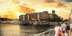 Park Hyatt Hotel Wynyard Quarter - An artist impression of the $200m five star hotel about to be built by China Construction and Hawkins
