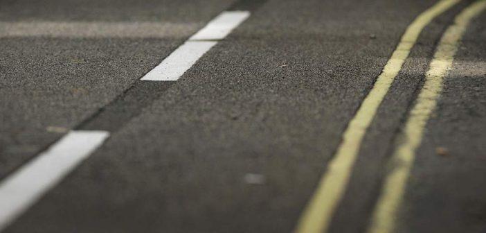 Road markings help drivers note speed changes