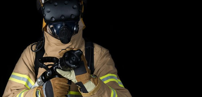 Firefighters train using virtual reality